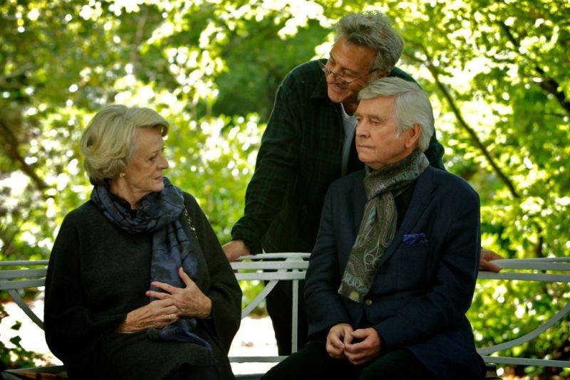 Quartet: Maggie Smith e Tom Courtenay sul set col regista Dustin Hoffman