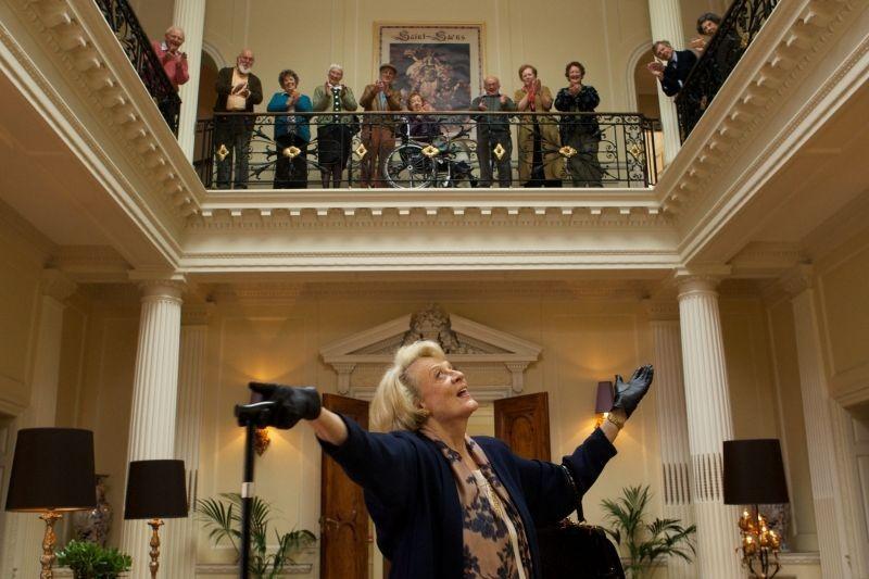 Quartet: Maggie Smith in una scena del film ambientato in una casa di cura per ex-cantanti e musicisti