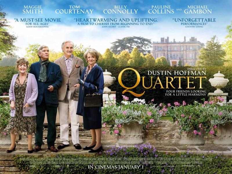 Quartet: uno dei poster orizzontali del film diretto da Dustin Hoffman