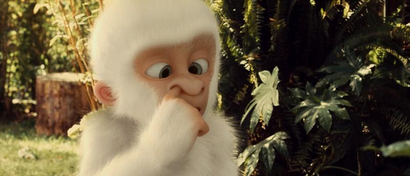 Le avventure di Fiocco di Neve: un'irriverente immagine del piccolo gorilla albino protagonista del film