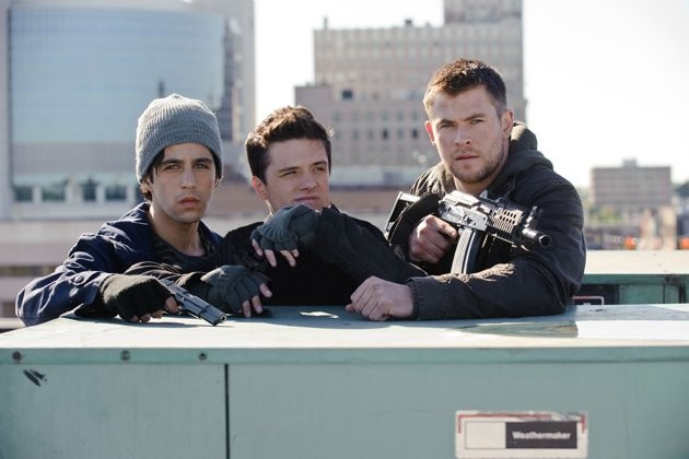 Chris Hemsworth, Josh Hutcherson, Josh Peck in Red Dawn