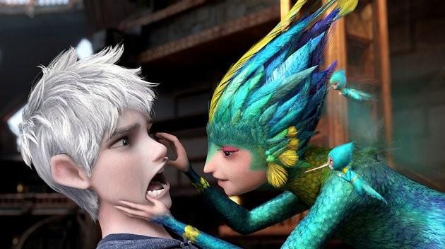 Le cinque leggende: la Fata del Dentino e Jack Frost in una scena del film