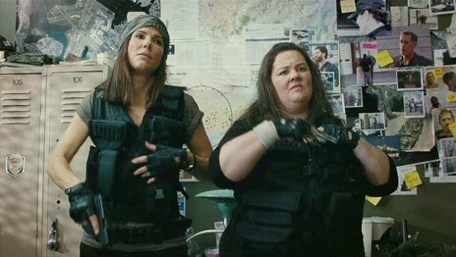 The Heat: Sandra Bullock e Melissa McCarthy in una scena del film