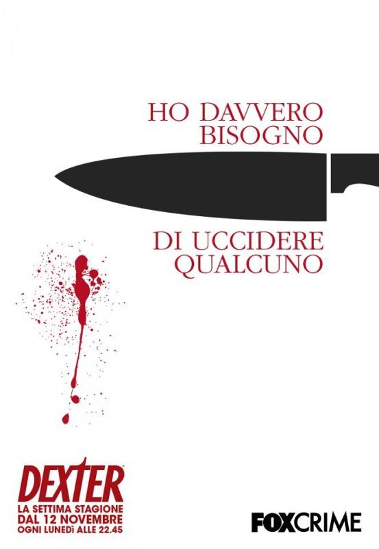 Dexter: poster italiano per la trasmissione su Fox Crime dal 12 Novembre 2012