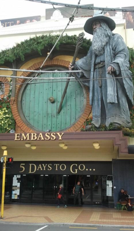 Wellington si prepara alla premiere di Lo Hobbit: un viaggio inaspettato, primo capitolo della trilogia jacksoniana