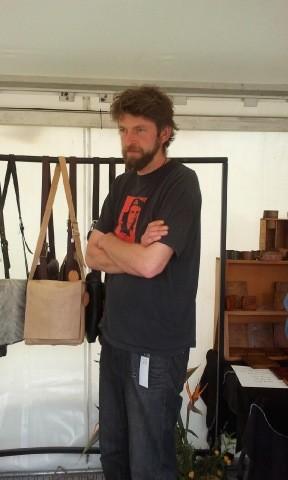 Ben Price al mercatino organizzato a Wellington per Lo Hobbit: un viaggio inaspettato