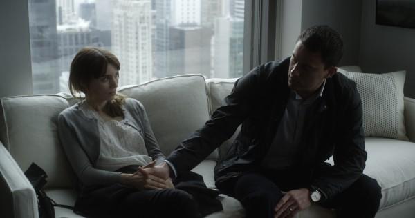 Side Effects: Rooney Mara e Channing Tatum discutono in una scena del film