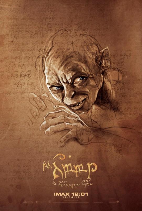 Lo Hobbit - Un viaggio inaspettato: il poster stilizzato di Gollum