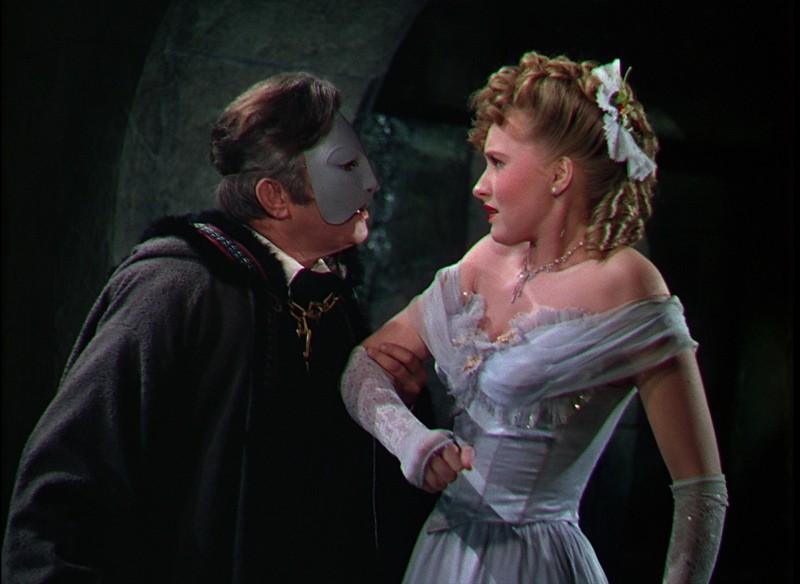 Il Fantasma dell'Opera: Claude Rains con Susanna Foster in una scena del film