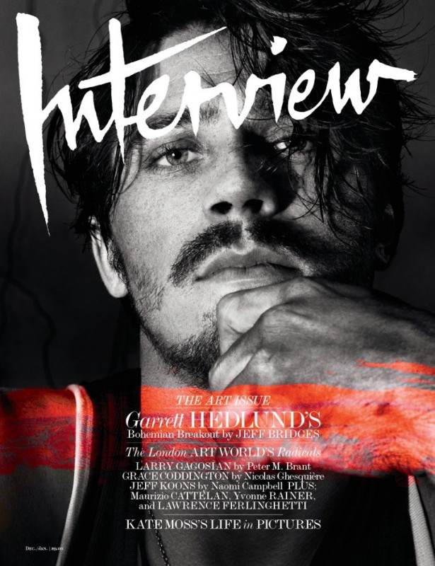 Garrett Hedlund sulla cover di Interview (dic. 2012)