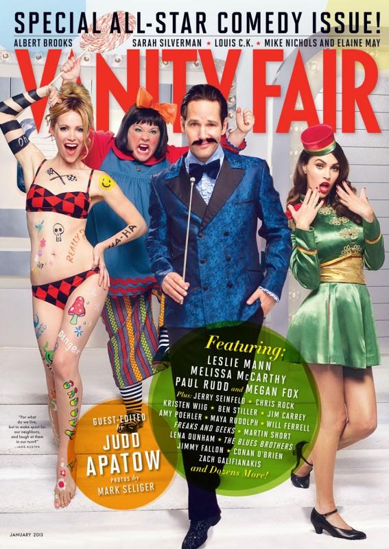 Vanity Fair USA - gennaio 2013: Leslie Mann, Melissa McCarthy, Paul Rudd e Megan Fox
