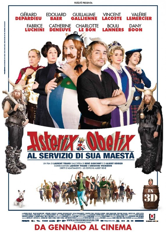 Asterix e Obelix al servizio di sua maestà: la locandina italiana del film