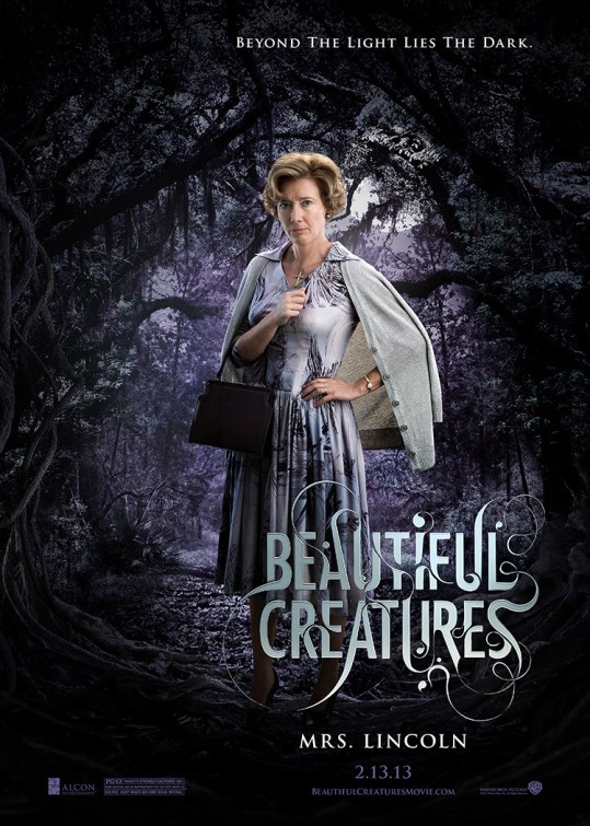 Beautiful Creatures: character poster di Emma Thompson nei panni di Mrs. Lincoln