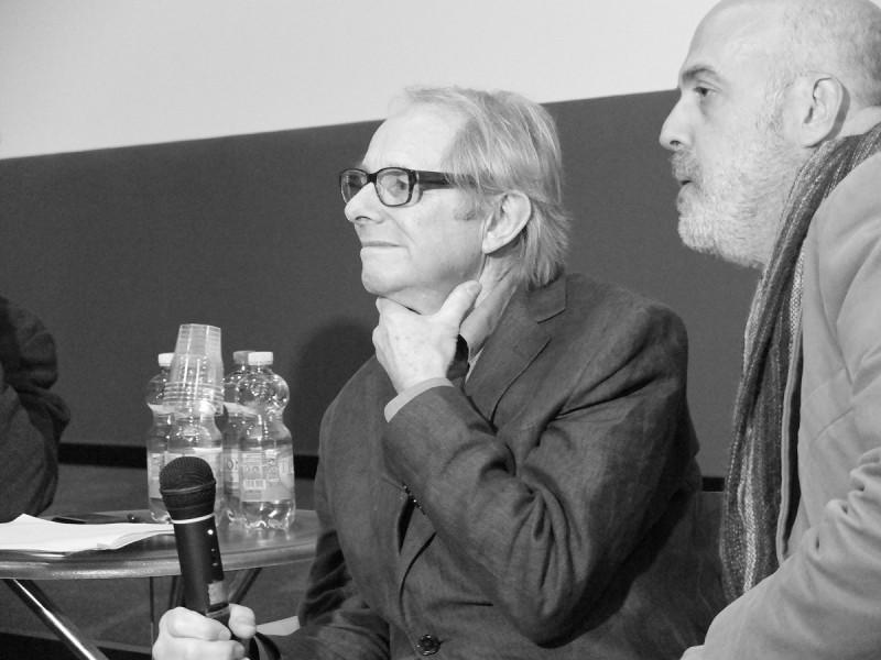 Ken Loach in conferenza stampa alla presentazione romana de La parte degli angeli