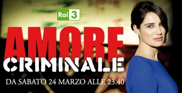 Luisa Ranieri in una immagine promo del programma Amore Criminale