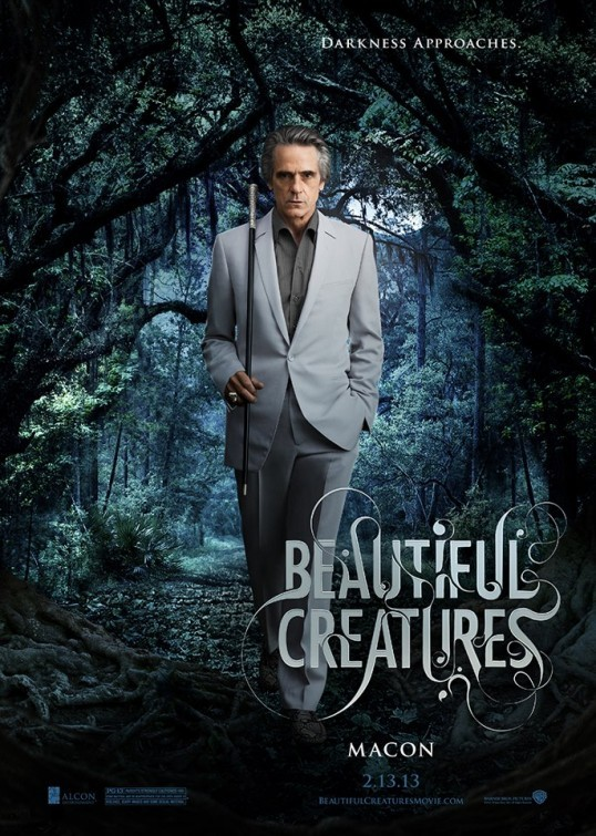 Beautiful Creatures: character poster di Jeremy Irons nei panni di Macon Ravenwood