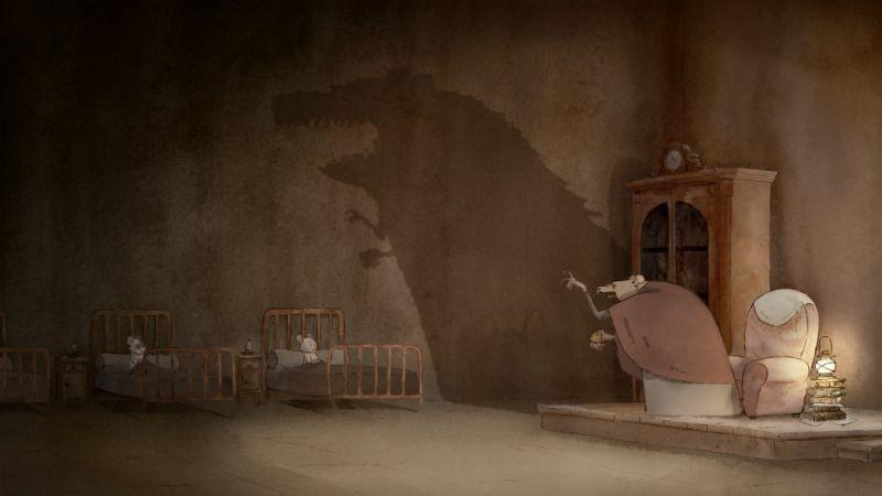 Ernest & Celestine: ombre spaventose in una scena tratta dal film
