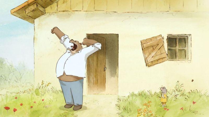 Ernest et Célestine: l'orso Ernest in una scena del film d'animazione francese