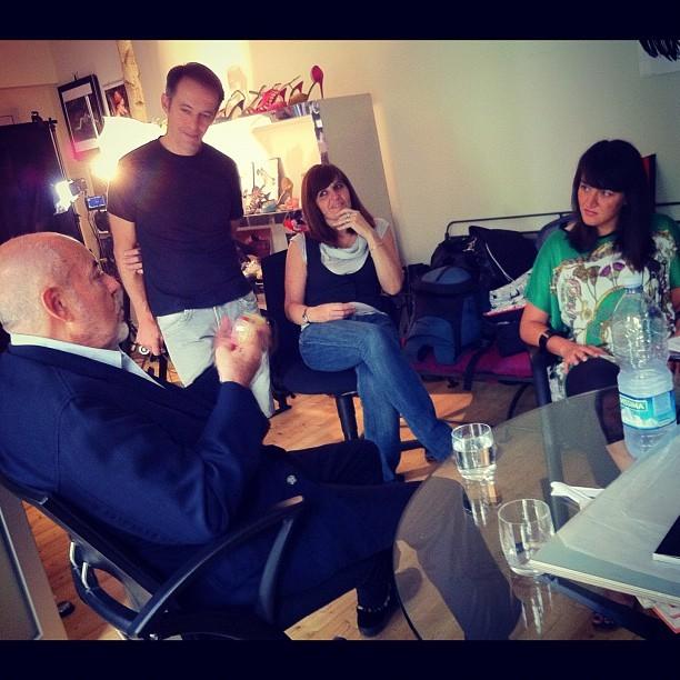 Fumettology: Elio Fiorucci, Caterina Crepax, Clarissa Montilla prima dell'intervista a Fiorucci sulla Valentina di Crepax