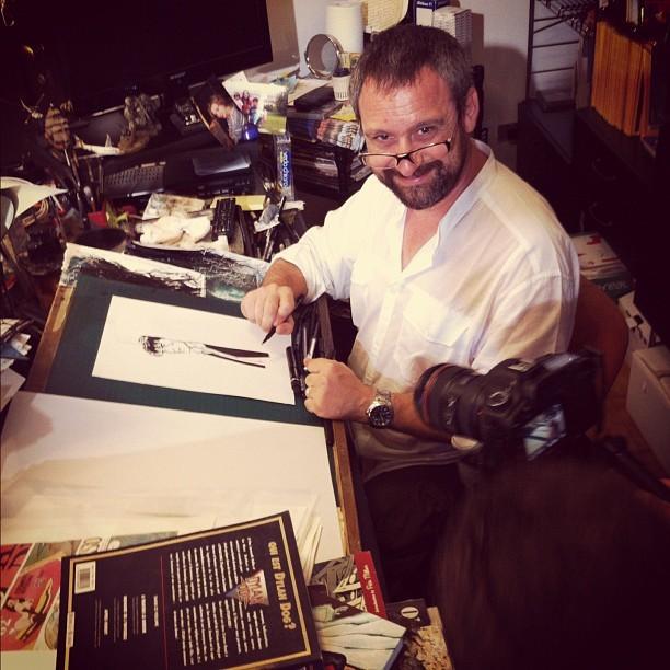 Giampiero Casertano sorride davanti alle telecamere di Fumettology