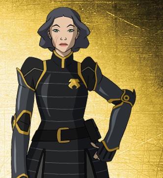 Il personaggio di Lin Beifong, della prima stagione della serie animata La leggenda di Korra