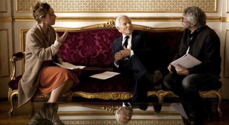 La cuoca del presidente: Jean d'Ormesson e Catherine Frot sul set col regista Christian Vincent