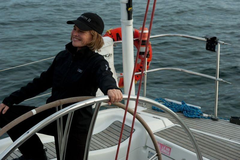 La regola del silenzio: Julie Christie in fuga in barca in una scena del film