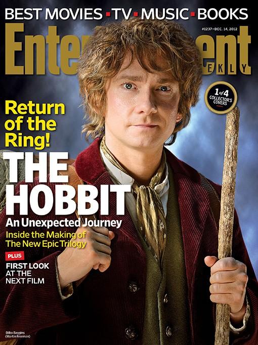 Lo Hobbit: un viaggio inaspettato - La copertina di Entertainment Weekly dedicata a Bilbo