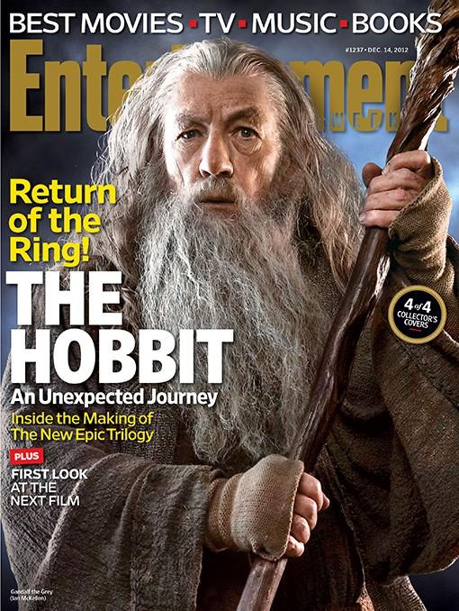 Lo Hobbit: un viaggio inaspettato - La copertina di Entertainment Weekly dedicata a Gandalf