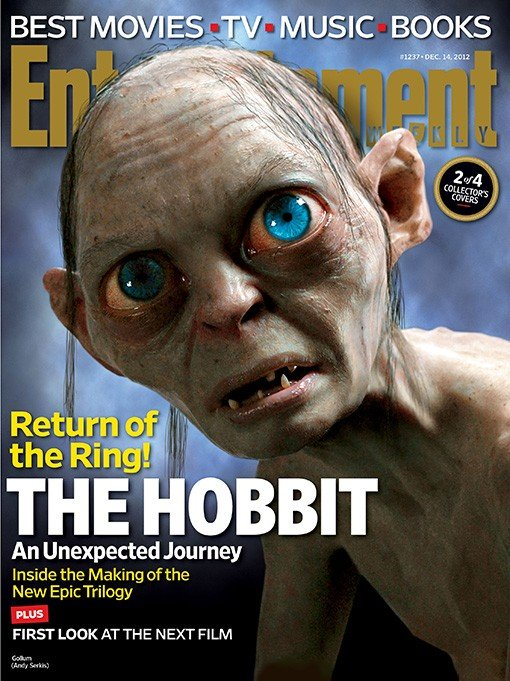 Lo Hobbit: un viaggio inaspettato - La copertina di Entertainment Weekly dedicata a Gollum