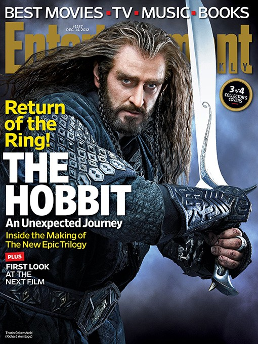 Lo Hobbit: un viaggio inaspettato - La copertina di Entertainment Weekly dedicata a Thorin