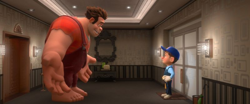 Ralph Spaccatutto: Ralph in una scena del film con l'amico Felix