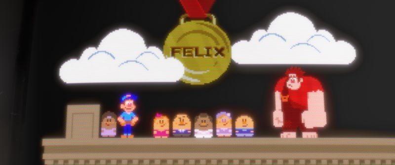Ralph Spaccatutto: una scena da videogame tratta dal film