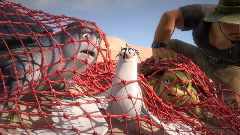 Sammy 2 - La grande fuga: bracconieri in azione in una scena del film d'animazione