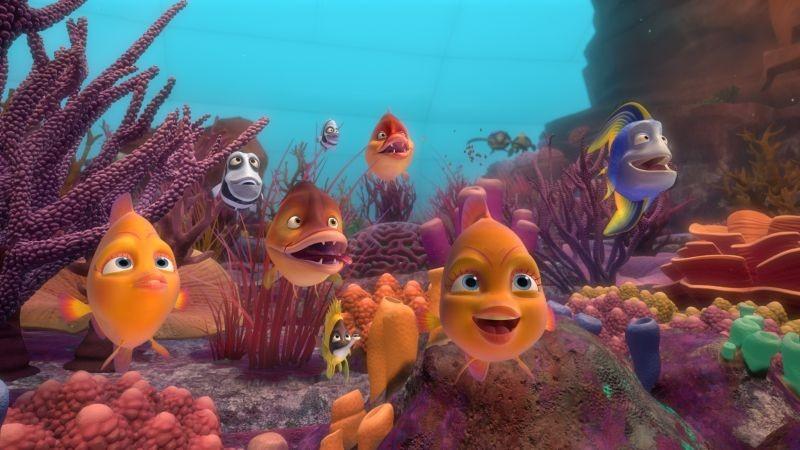 Sammy 2 - La grande fuga: pesci colorati in una scena del film d'animazione belga
