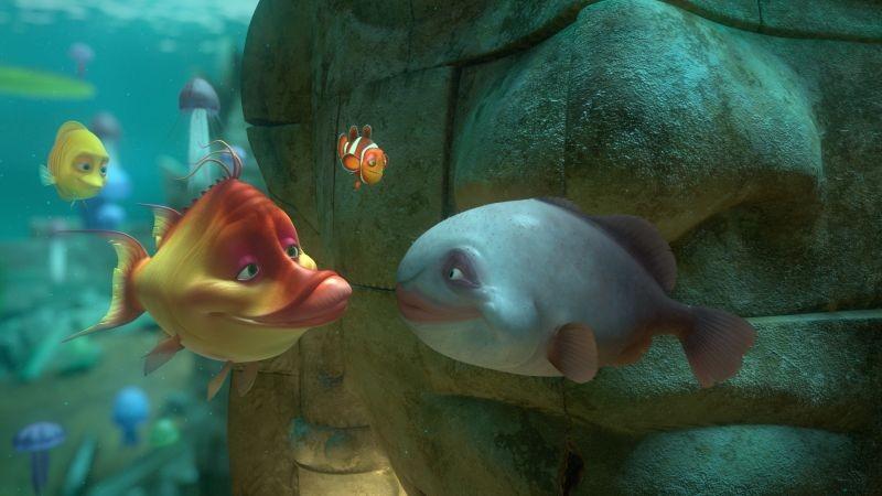 Sammy 2 - La grande fuga: pesci tropicali in una scena del film d'animazione sulla piccola tartarughina