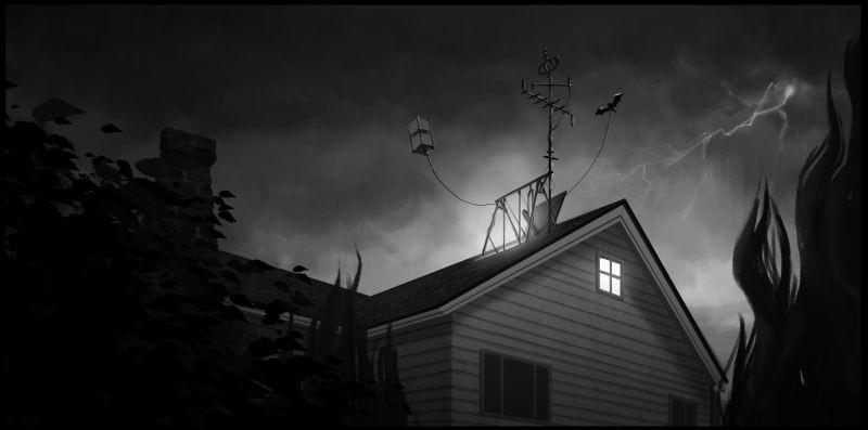 Frankenweenie di Tim Burton: una scena tratta dal film d'animazione