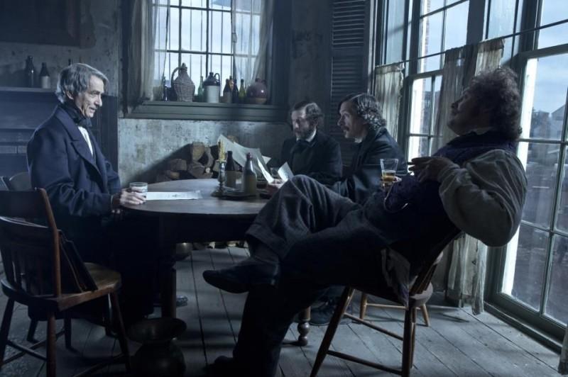 Lincoln: David Strathairn, Tim Blake Nelson, John Hawkes e James Spader in una scena del film
