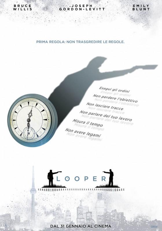 Looper: il teaser poster con decalogo
