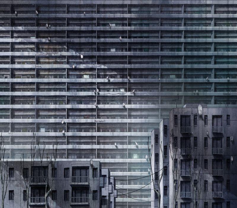 La bottega dei suicidi: un'immagine urbana tratta dal film d'animazione francese