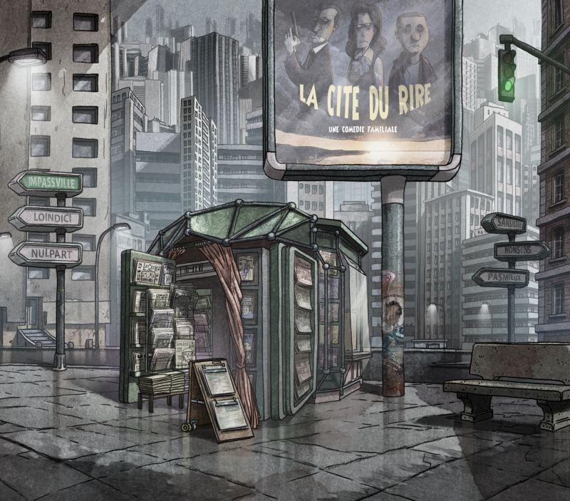 La bottega dei suicidi: una scena urbana tratta dal capolavoro di animazione francese