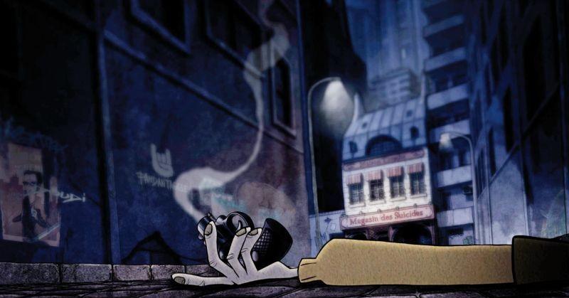 La bottega dei suicidi: una suggestiva immagine tratta dal film