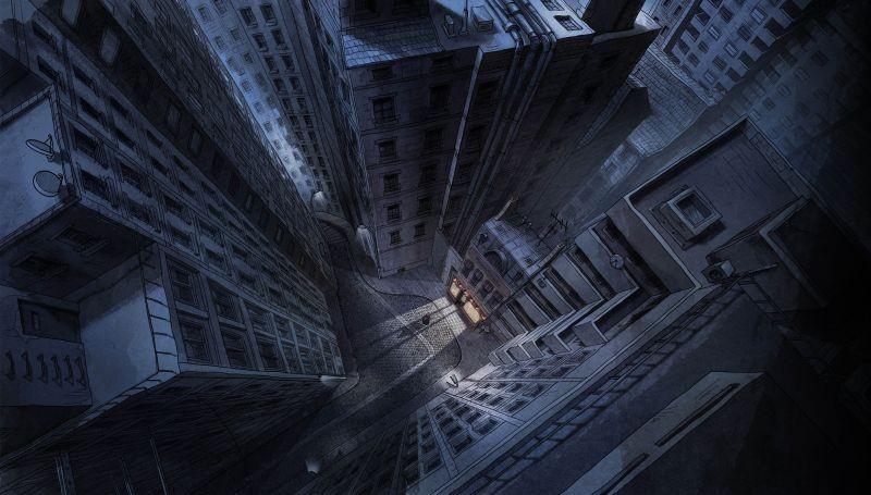 La bottega dei suicidi: uno degli scenari tratti dal film
