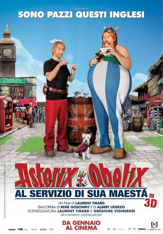 Asterix e Obelix al servizio di sua maestà: la nuova locandina italiana del film