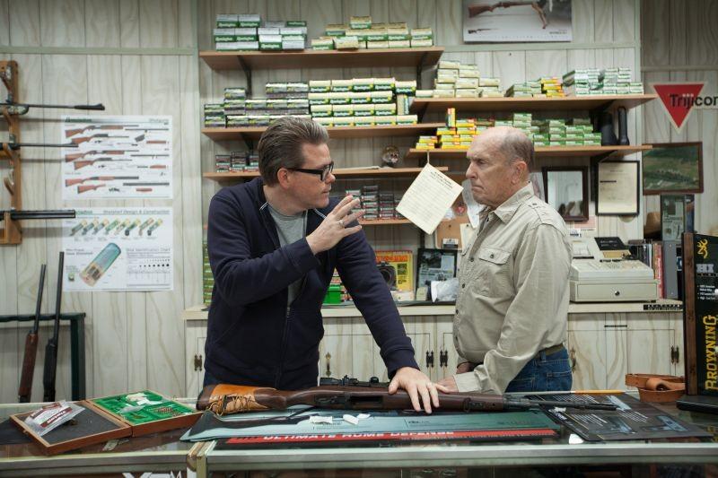 Jack Reacher - La prova decisiva: il regista Christopher McQuarrie insieme a Robert Duvall sul set
