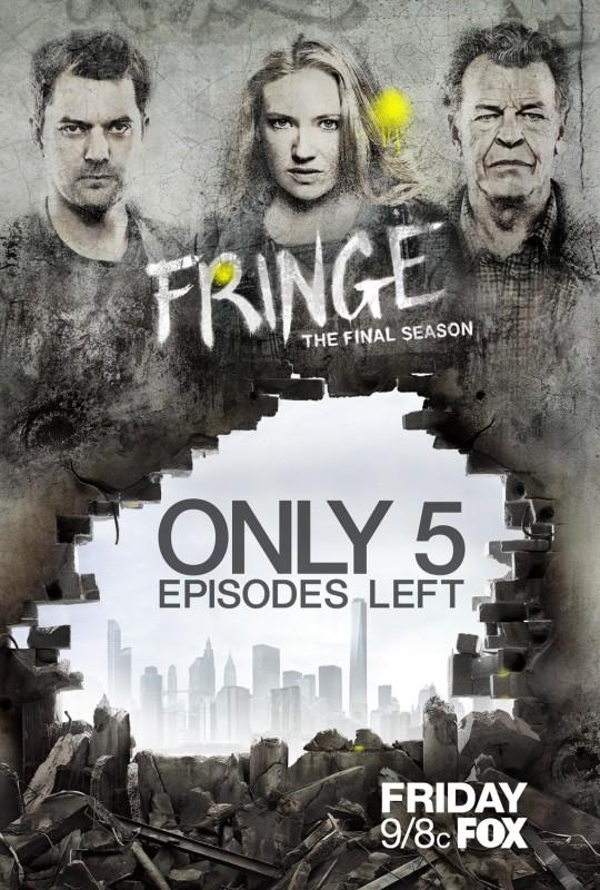 Fringe: un poster della quinta ed ultima stagione realizzato a cinque episodi dal termine della serie