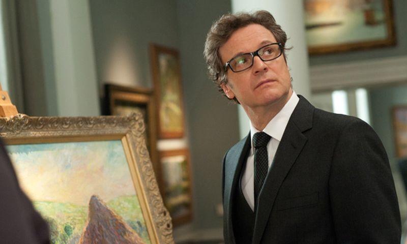 Colin Firth in una scena della commedia Gambit