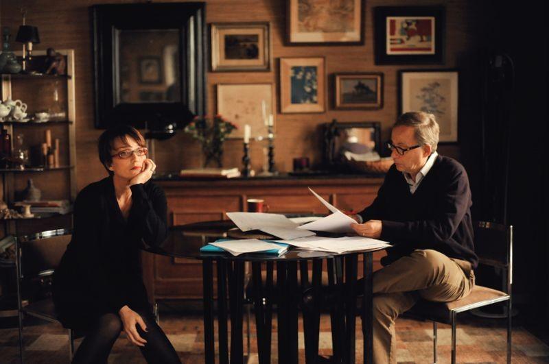 Dans la Maison: Fabrice Luchini con Kristin Scott Thomas in una scena del film