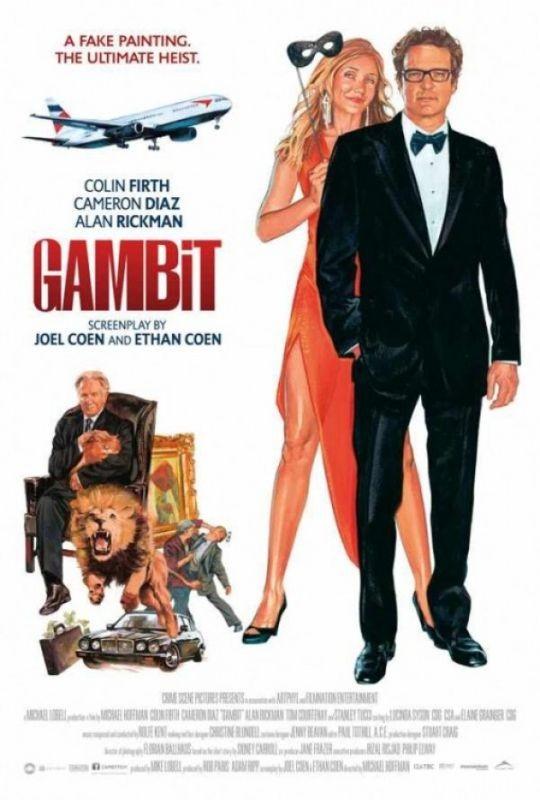 Gambit: il poster 'disegnato' del film