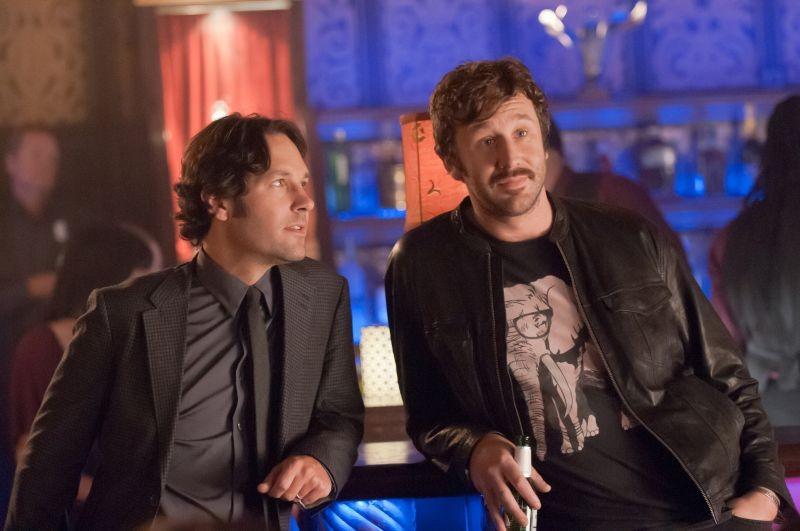 Paul Rudd e Chris O'Dowd in una scena di Questi sono i 40